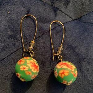 Jewelry - 5/$25 Green floral earrings